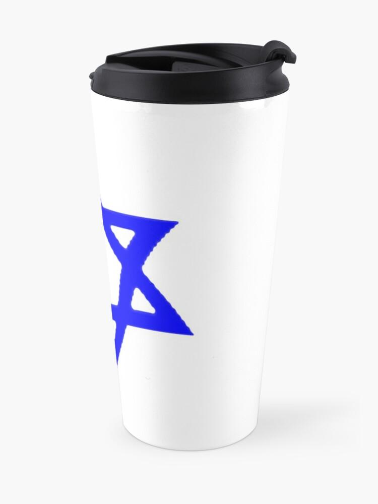 Alternate view of #Star of #David #Kippah Travel Mug