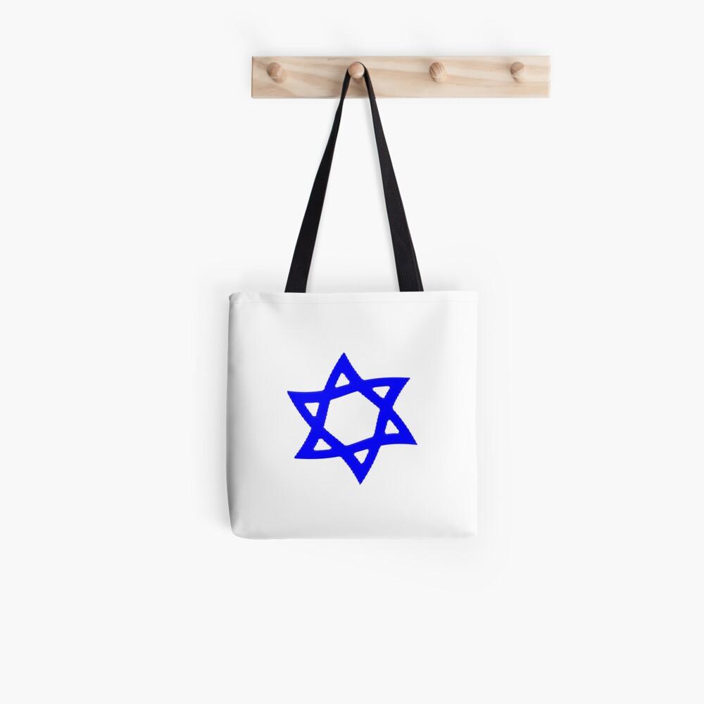 #Star of #David #Kippah Tote Bag