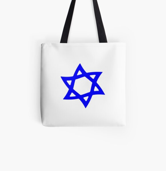 #Star of #David #Kippah All Over Print Tote Bag
