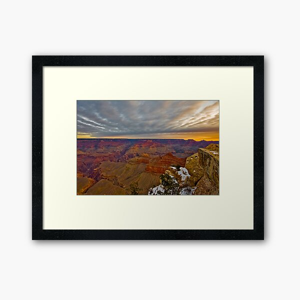 Grand Canyon National Park Sunrise and Snow Framed Art Print