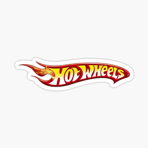 Hot Wheels Logo Die-cast Toy Sticker