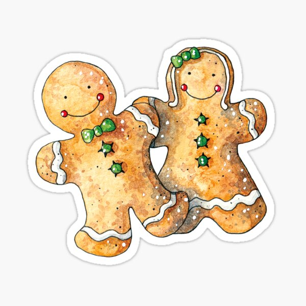 Boy and Girl Gingerbread Sticker