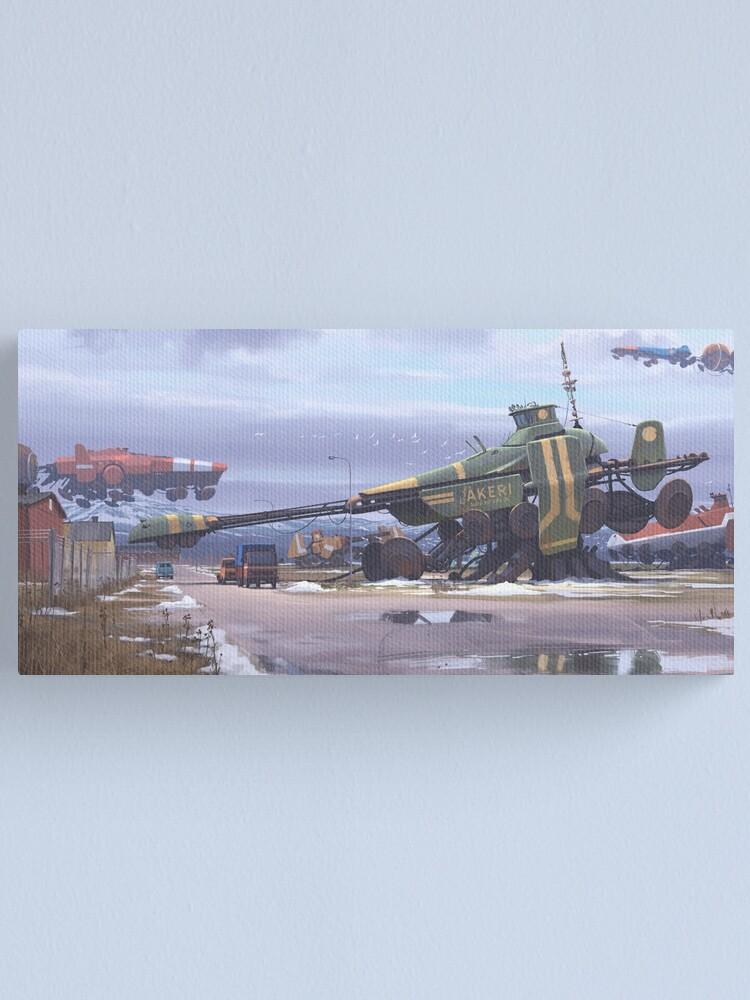 Alternate view of Shipyard Canvas Print