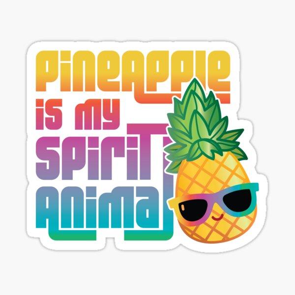 Pineapple is My Spirit Animal - Retro Sticker