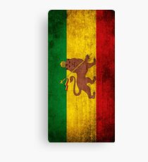 Vintage Rasta Flag Canvas Print