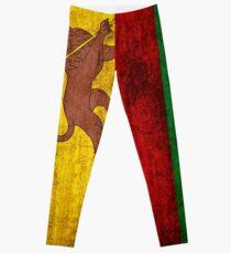 Vintage Rasta Flagge Leggings