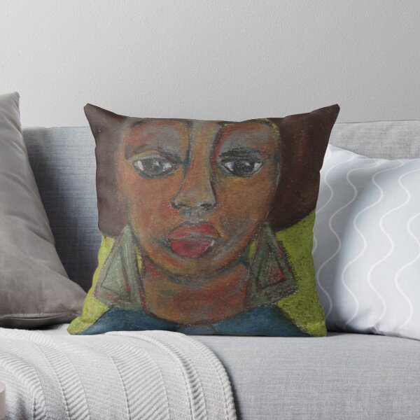 Pastel Portrait - S48 Throw Pillow
