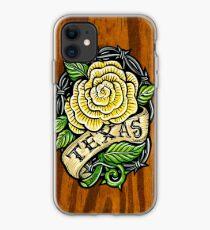 Texas Rose Wood iPhone Case