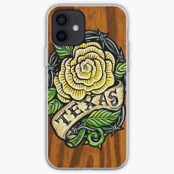 Texas Rose Wood iPhone Soft Case