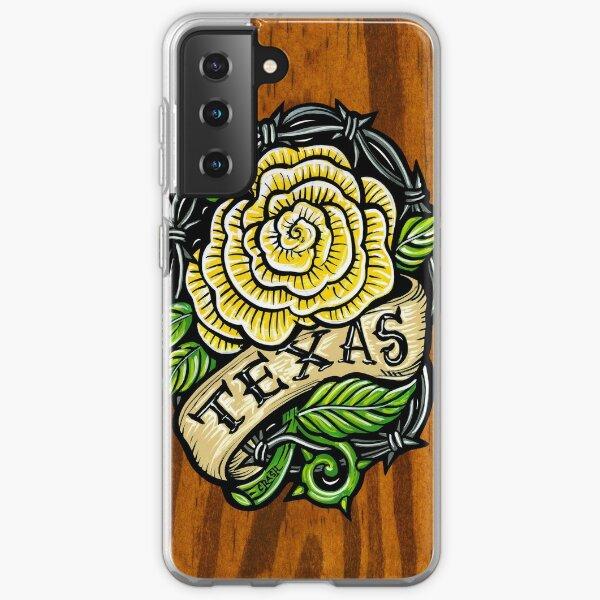 Texas Rose Wood Samsung Galaxy Soft Case