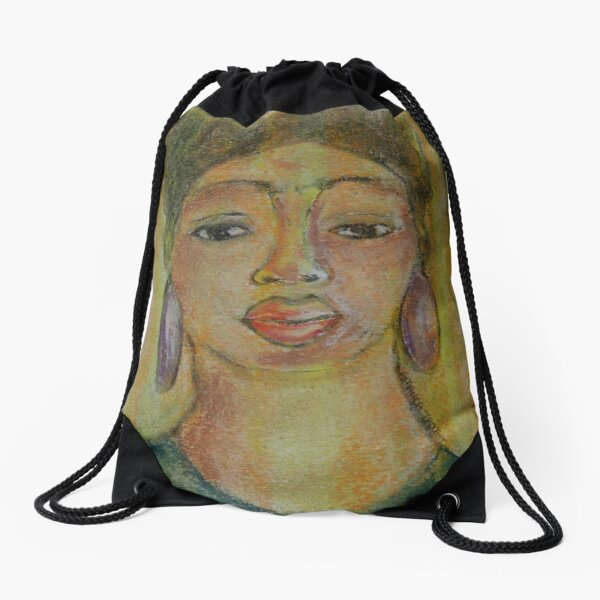 Pastel Portrait - 51 Drawstring Bag