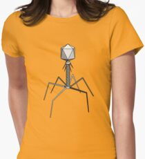 T4 bacteriophage virus Womens Fitted T-Shirt