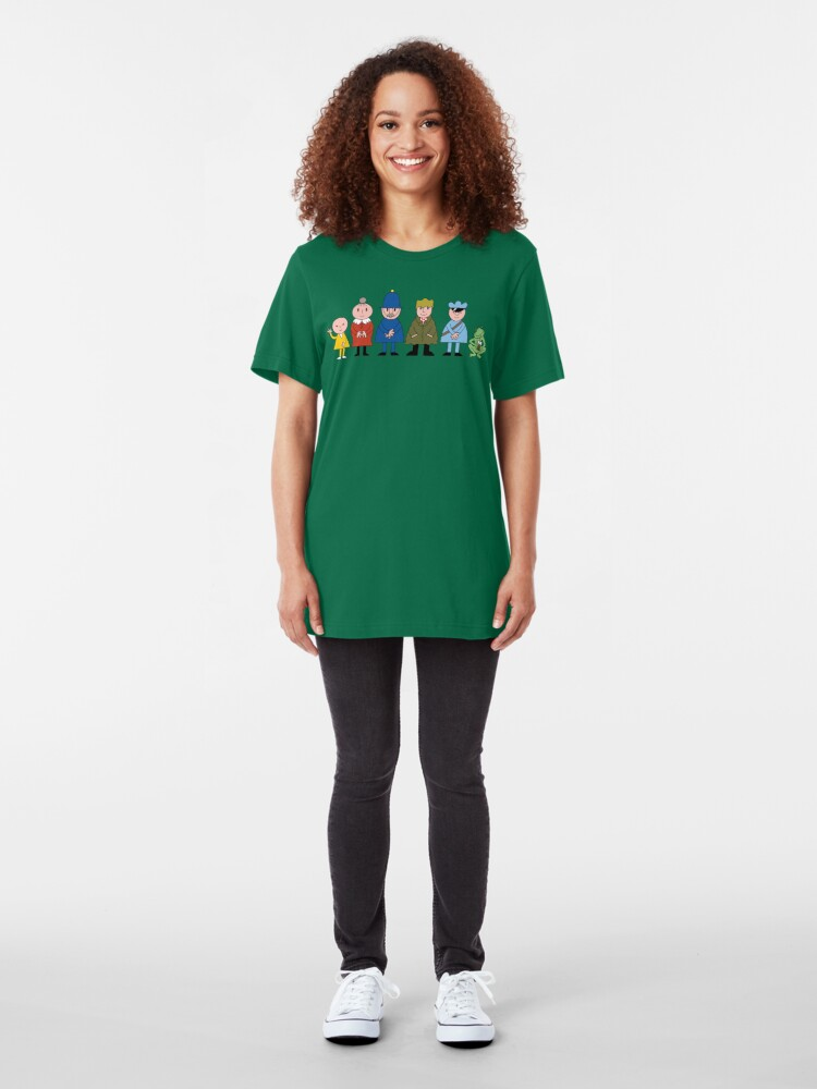 Alternate view of NDVH Bod and friends Slim Fit T-Shirt