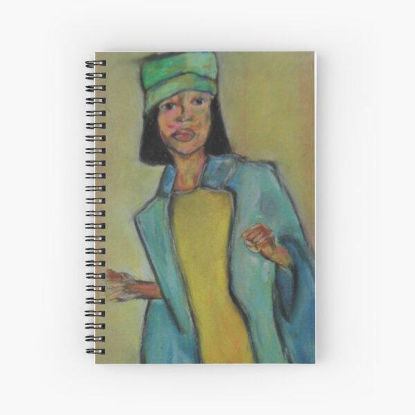 Pastel Portrait - S56 Spiral Notebook