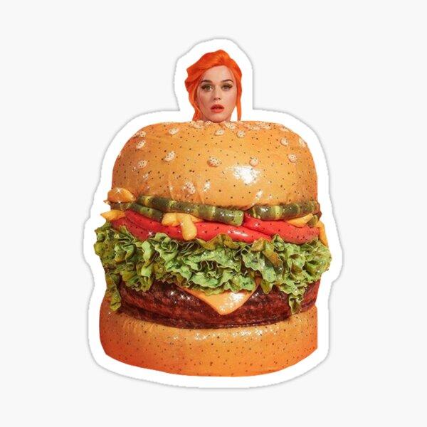 Katy Perry hamburguesa Pegatina