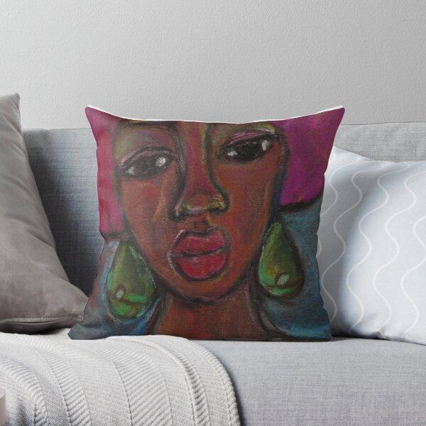 Pastel Portrait - S57 Throw Pillow