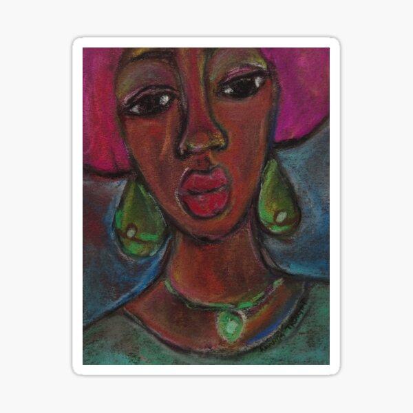 Pastel Portrait - S57 Sticker