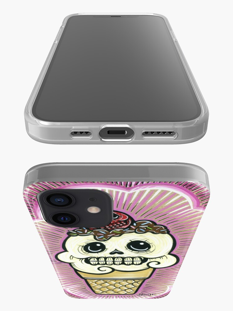 Alternate view of Ice Cream in Pink iPhone Case & Cover