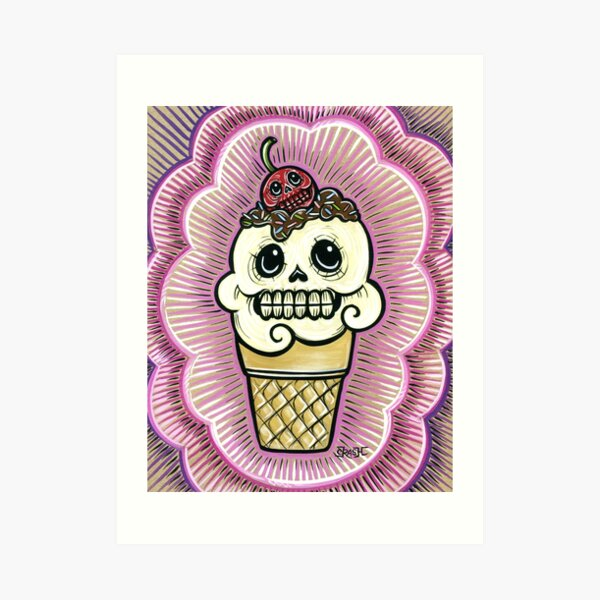 Ice Cream in Pink Art Print