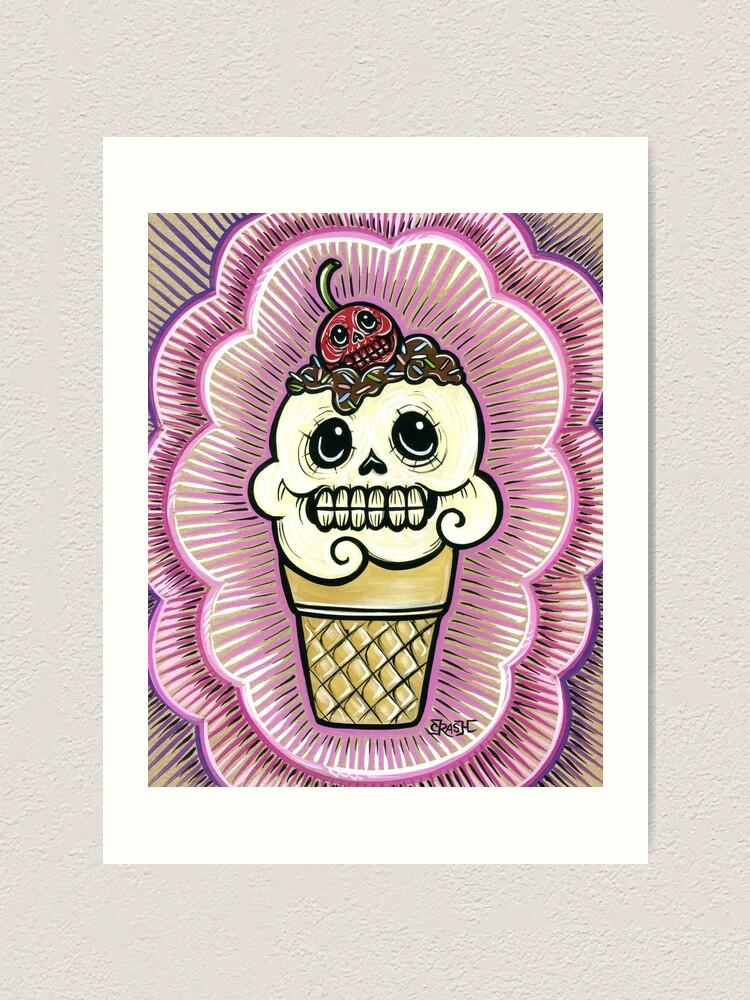 Alternate view of Ice Cream in Pink Art Print