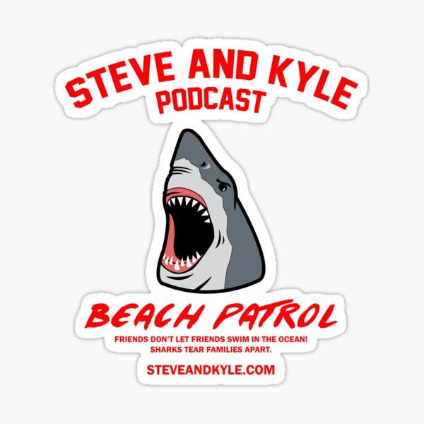 steve and kyle shark awareness Sticker