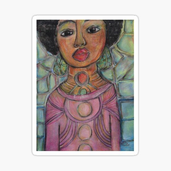 Pastel Portrait - S58 Sticker
