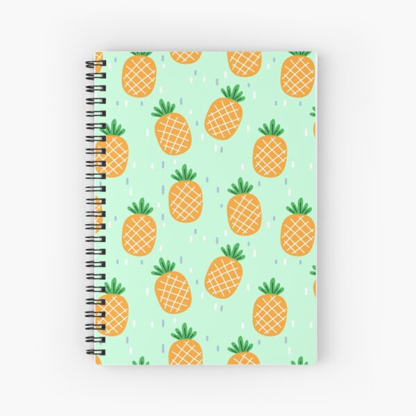 Cute Pineapple Pattern Spiral Notebook