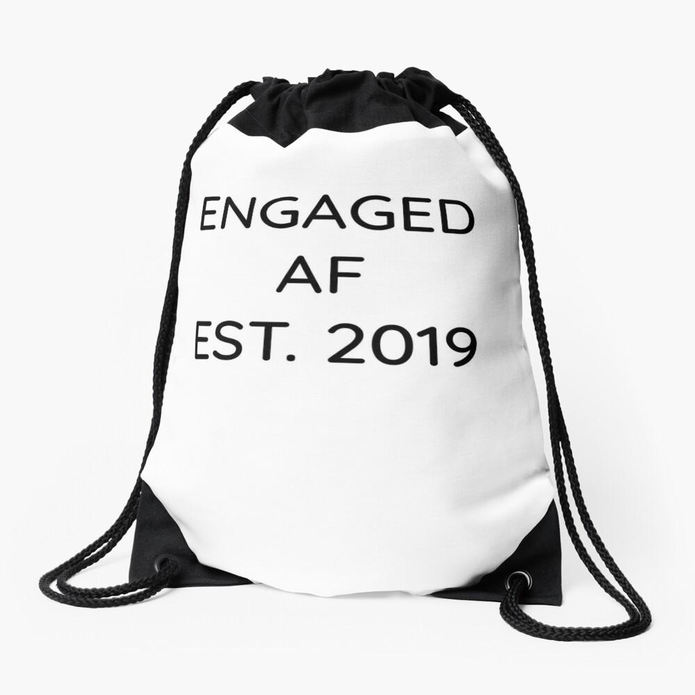 Engaged AF Est 2019 - Cute Wedding Gifts for Brides Grooms  Turnbeutel