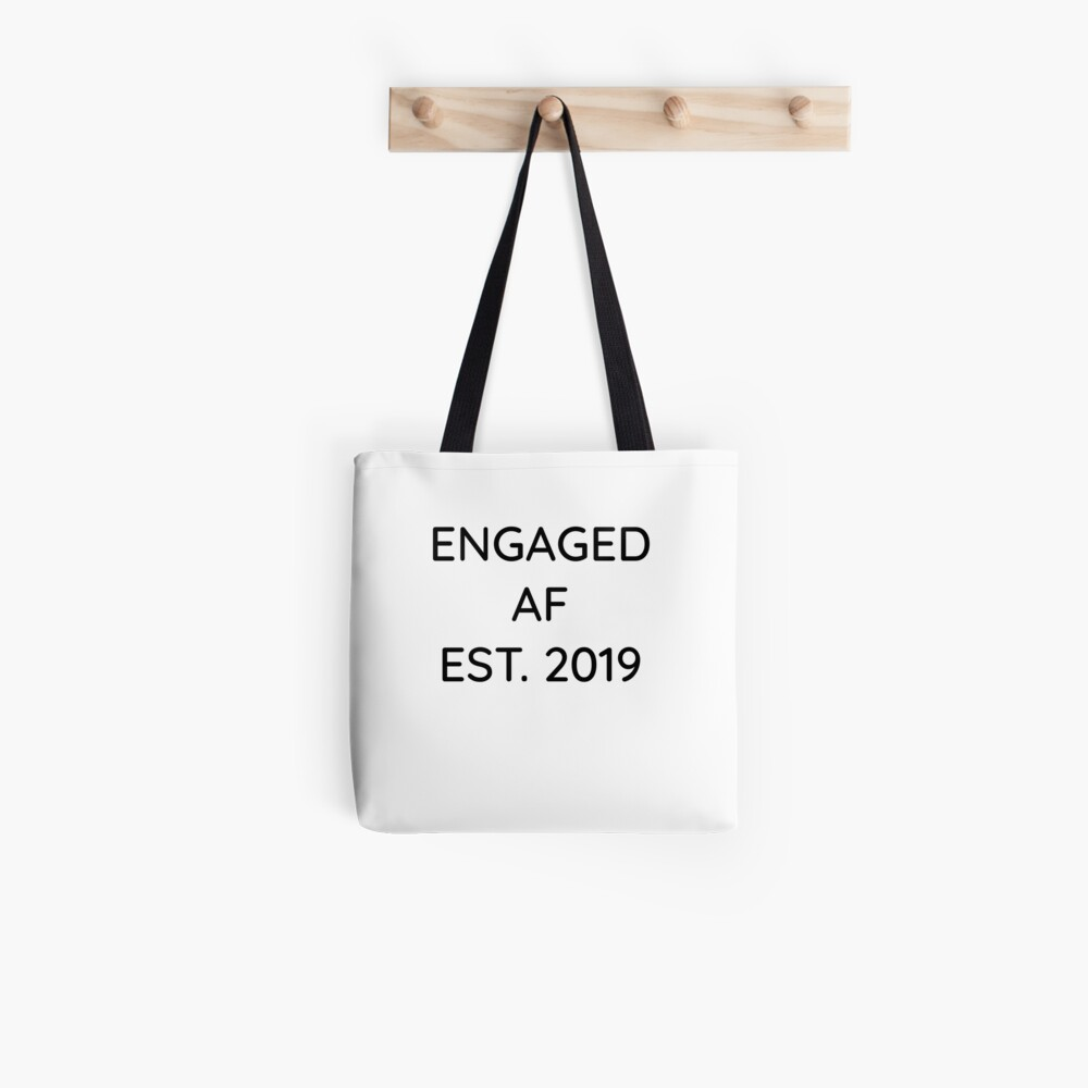 Engaged AF Est 2019 - Cute Wedding Gifts for Brides Grooms  Stofftasche