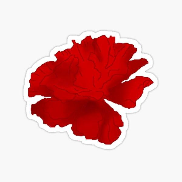 Hadestown Cartoon Red Flower Sticker Sticker