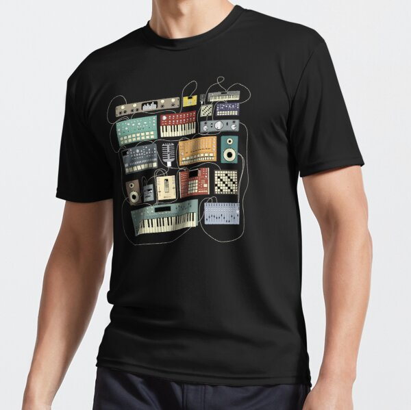 Electronic musician Synthesizer and Drum Machine Dj Active T-Shirt