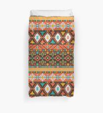 Aztec geometric seamless  colorful pattern Duvet Cover