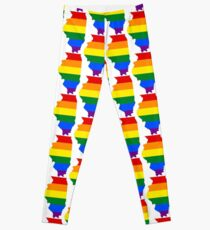 LGBT Flag Map of Illinois  Leggings