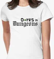Dorks in Dungeons Logo! Women's Fitted T-Shirt