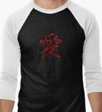 Love Kanji - Rose Men's Baseball ¾ T-Shirt