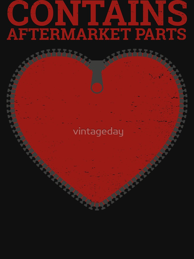 Zipper Club Member  Contains Aftermarket Parts Open Heart  design by vintageday