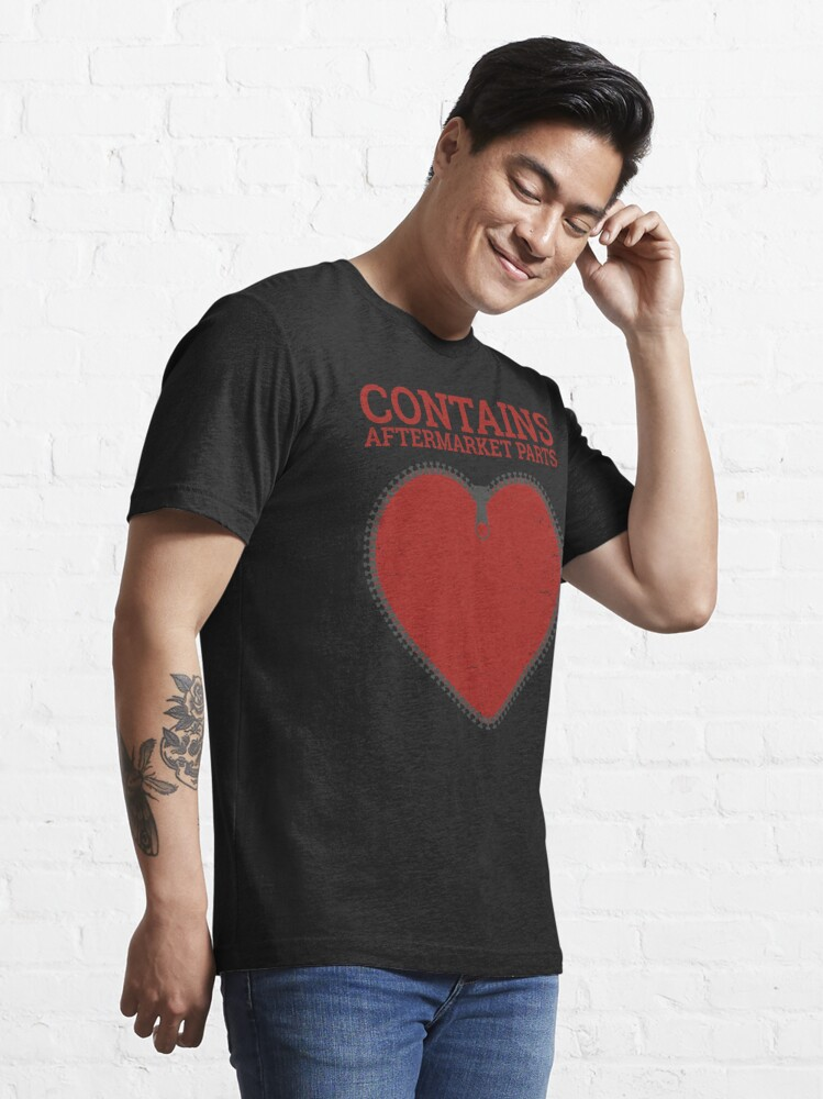 Alternate view of Zipper Club Member  Contains Aftermarket Parts Open Heart  design Essential T-Shirt