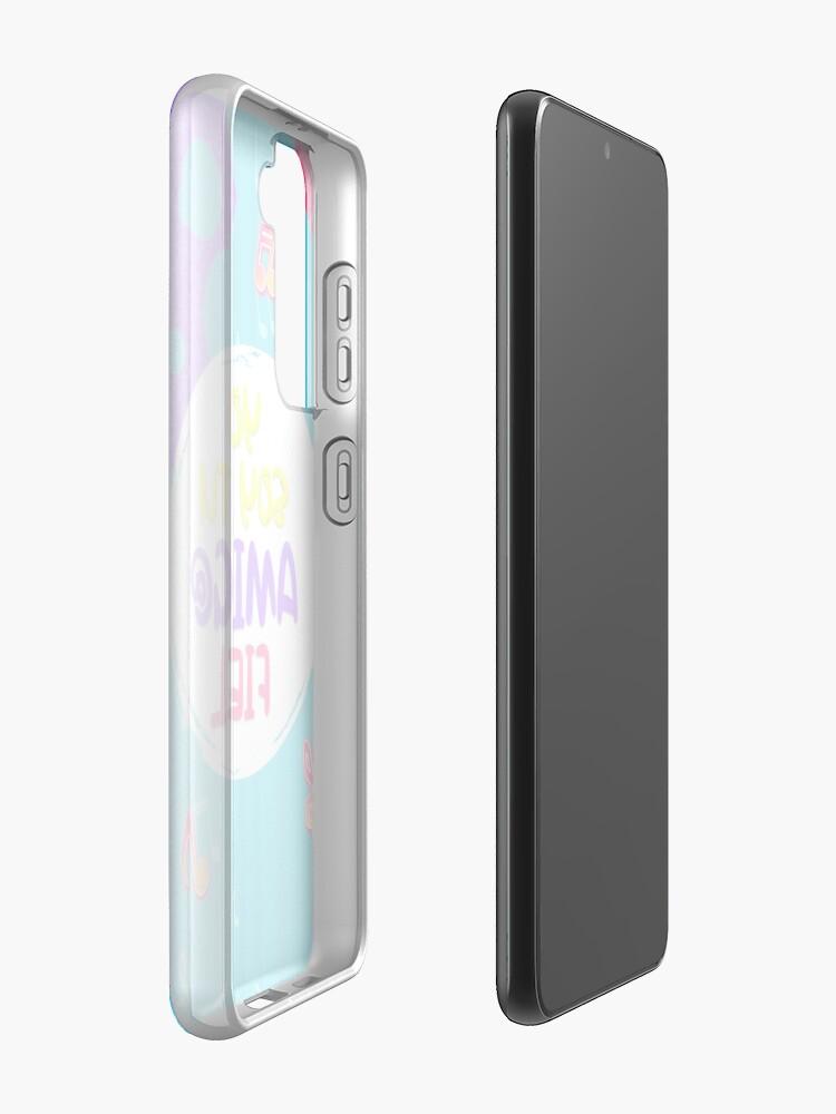 Vista alternativa de Funda y vinilo para Samsung Galaxy YO SOY TU AMIGO FIEL