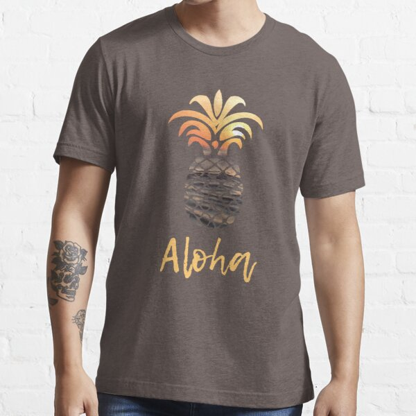 Pineapple Aloha Sunset Essential T-Shirt