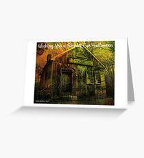 Wishing You A Spooky Fun Halloween Card Greeting Card