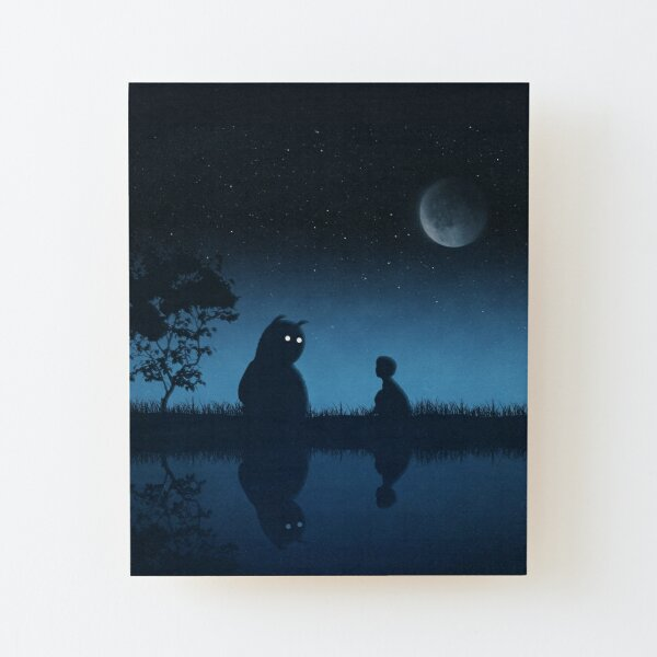 The Friend of the Night Wood Mounted Print