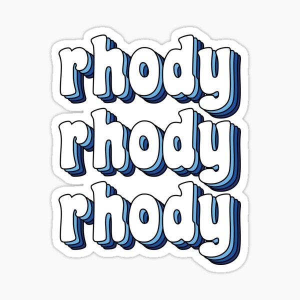 Groovy Rhody Rhody Rhody Sticker