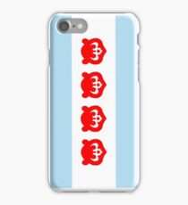 Chicago Flag with Cubs iPhone Case/Skin