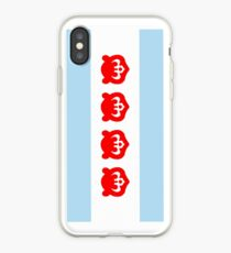 Chicago Flag with Cubs iPhone Case