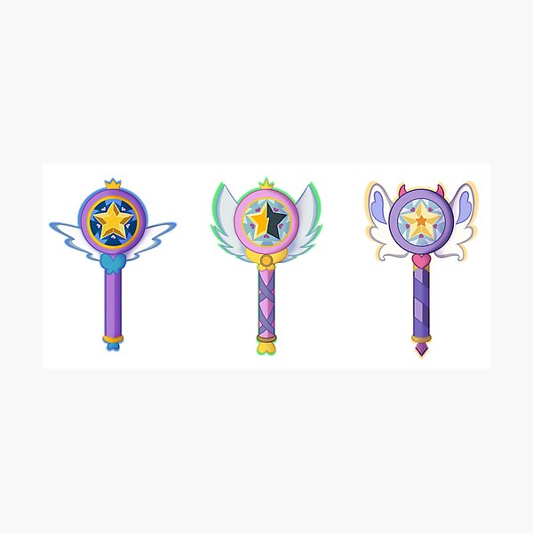 Star Butterfly's Wands Photographic Print