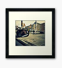 Photographer in Downtown  Framed Print