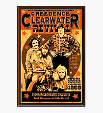 Vintage Retro CCR Concert Poster Photographic Print