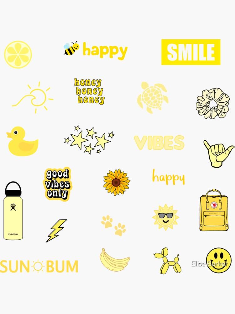 Yellow Sticker Pack by elisebarker