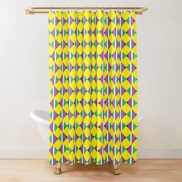 #Pattern, #design, #abstract, #textile, tile, square, mosaic, decoration, illusion, shape Shower Curtain