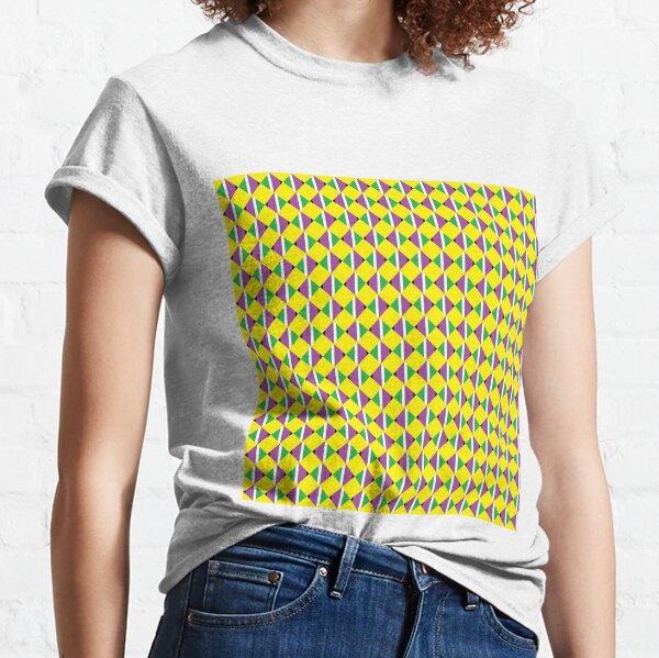#Pattern, #design, #abstract, #textile, tile, square, mosaic, decoration, illusion, shape Classic T-Shirt